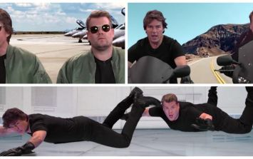 James Corden helps Tom Cruise act out his most memorable scenes