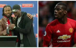 Paul Pogba looks very awkward as he makes surprise appearance at NFL press conference