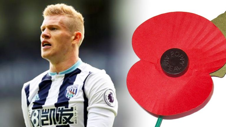 "Politician claims James McClean is ""wrong"" not to wear poppy"