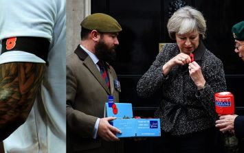 "Watch Theresa May tear into Fifa over ""utterly outrageous"" poppy ban"