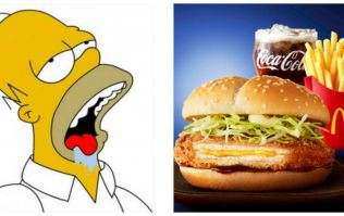 McDonald's have pioneered a burger with cheese *in the middle*