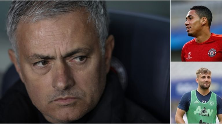 Jose Mourinho doesn't sound over the moon with Chris Smalling and Luke Shaw