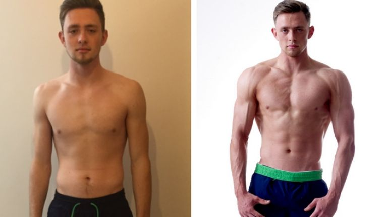 Liverpool student footballer gets shredded lifting weights for the first time in this charity body transformation challenge