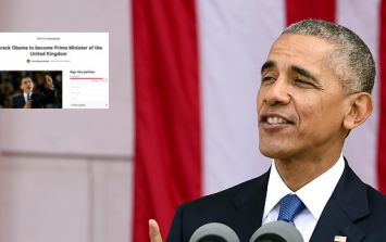 Someone's created a petition to make Barack Obama the UK's new Prime Minister