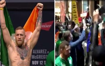 Irish fans are absolutely taking over New York ahead of UFC 205