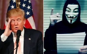Anonymous are ready to go to war with Donald Trump