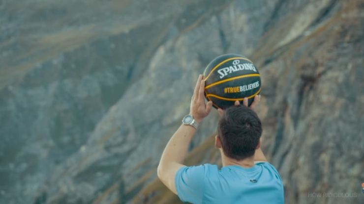 This basketball shot from a ridiculous 180m has broken the world record