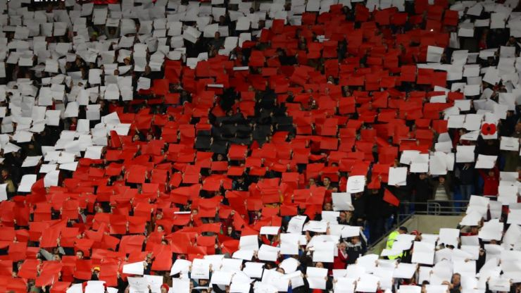 "Fifa charge Wales FA over ""some supporters in the stands wearing the poppy"""