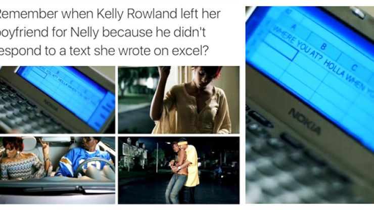 Nelly tries to explain why Kelly Rowland used Excel to message him in their video
