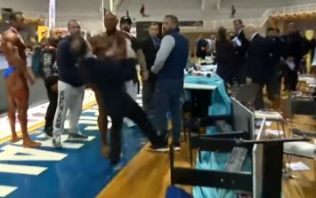 Furious bodybuilder slaps judge after losing competition