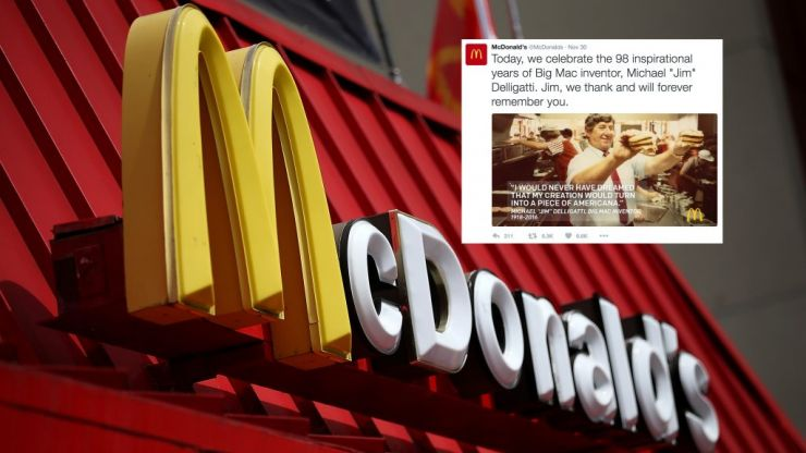 McDonald's customers honour the inventor of the Big Mac following his death