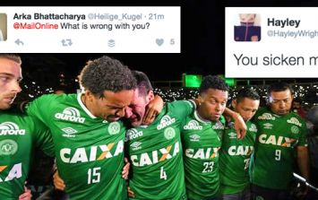 Many people are disgusted at the Daily Mail for focusing on Chapecoense co-pilot's looks
