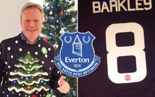Everton prove they're a class act in the end to correct Man United logo shirt blunder
