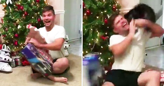 Psycho cat's reaction to man getting a PlayStation for Christmas ...