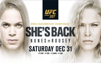 UFC 207 main card loses massive fight but there's an understandable reason