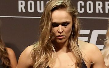 Ronda Rousey doesn't hang around as she takes to scales for first time in over a year