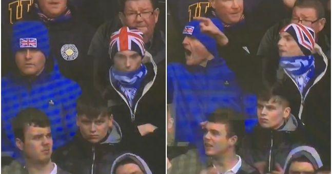 Rangers fans observe minute's silence then instantly tell Celtic fans what they think of them
