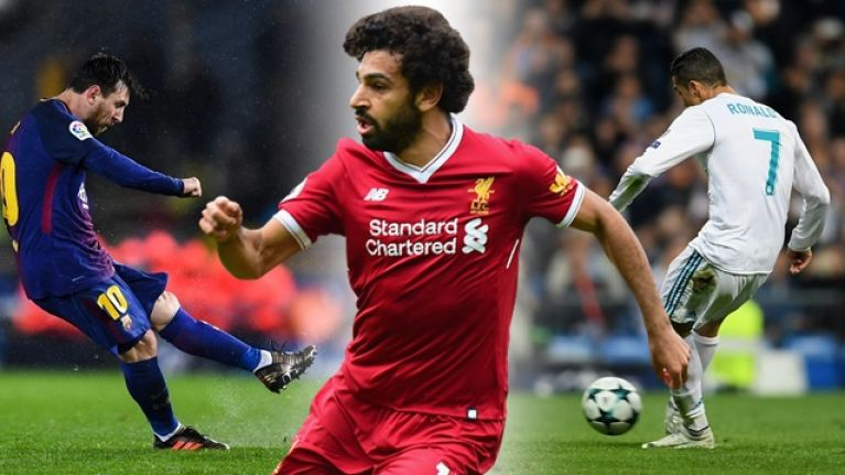 Image result for Salah and Messi