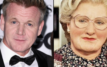 Gordon Ramsay dresses up as Mrs. Doubtfire on children's TV and looks scarily convincing