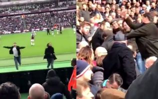 WATCH: West Ham fans turn on pitch invaders as they return to stands