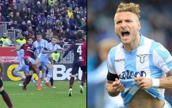 WATCH: Lazio's Ciro Immobile scores incredible 'Scorpio' volley in Serie A