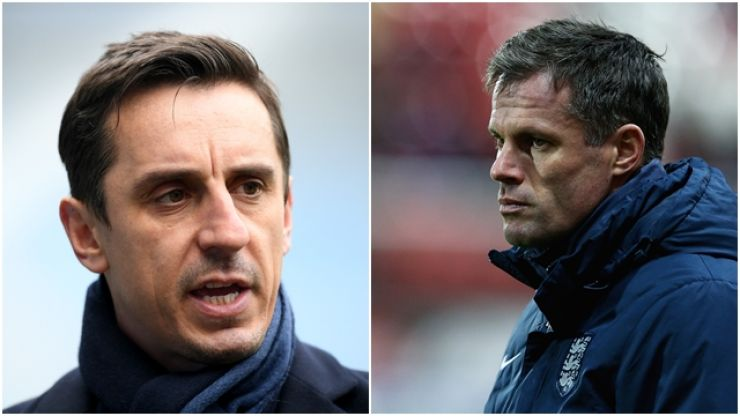 Gary Neville has tweeted a message of support to Jamie Carragher
