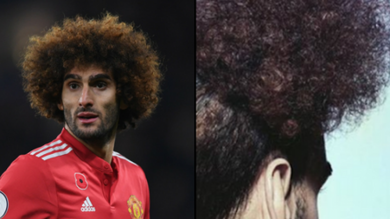 Marouane Fellaini's new hairstyle is getting a brutal response from fans
