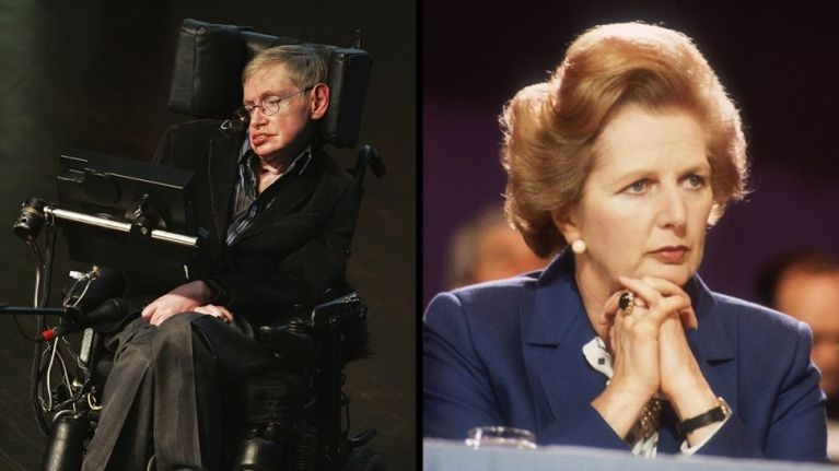 One of Hawking's biggest regrets was not having an opportunity to run over Margaret Thatcher's toes