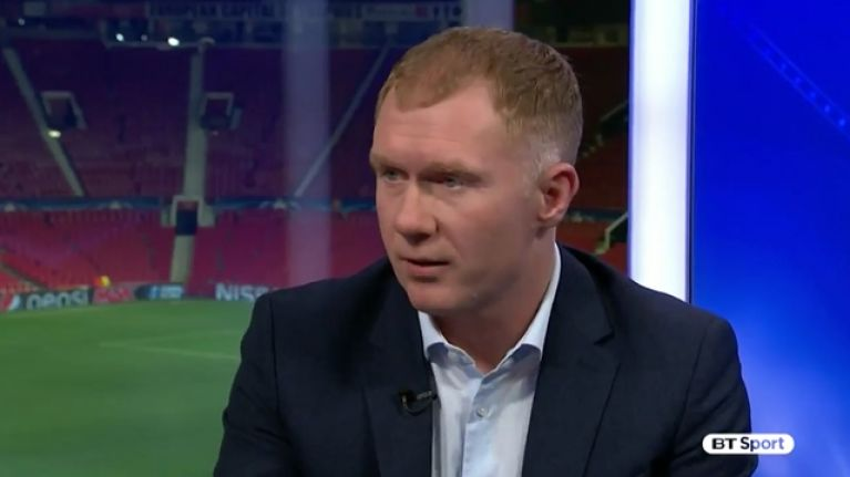 Paul Scholes was the only pundit to tell it like it is after Man United lost to Sevilla