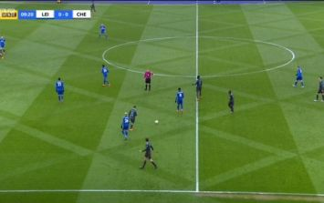 Everyone went mad over Leicester City's pitch pattern