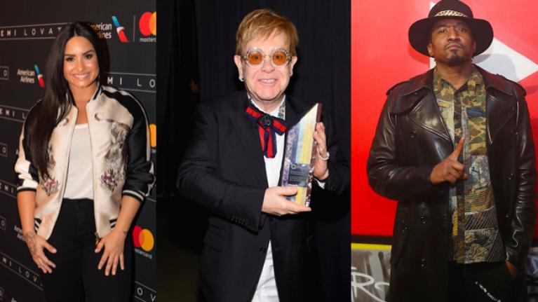 """Demi Lovato & Q-Tip revamp Elton John's """"Don't Go Breaking My Heart"""""""