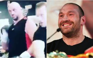 Tyson Fury tried out a weird technique in his first sparring session in over a year