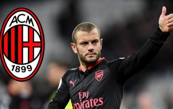 """Jack Wilshere is """"in talks"""" with AC Milan about a move to the Serie A club"""