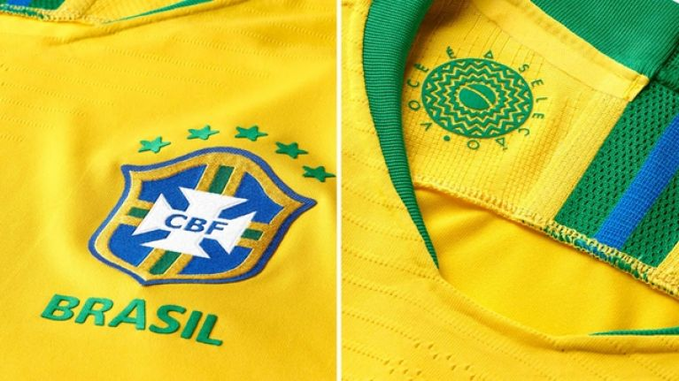 661668279 The first official images of Brazil s World Cup jersey have been leaked