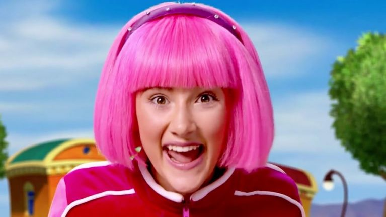 the girl out of lazytown looks unrecognisable nowadays