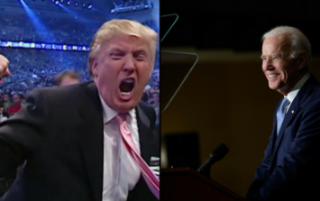 Donald Trump claims he could beat up Joe Biden, obviously