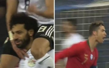Salah scores a stunner but Ronaldo steals the show with two stoppage time goals