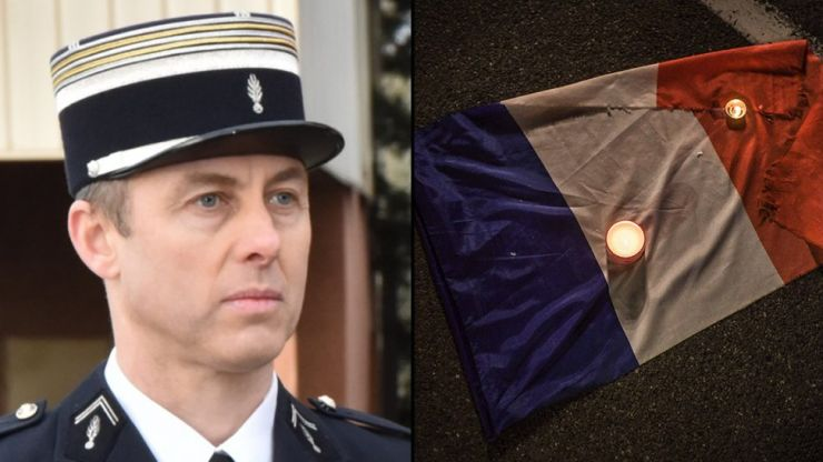 Heroic French policeman who died saving hostage from gunman married on death bed