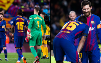 Messi needed only seven words to stop Paulinho taking a crucial free kick