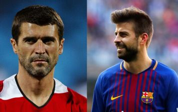 "Gerard Pique recalls the time Roy Keane made him ""almost sh*t himself"""