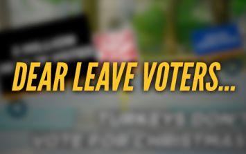 COMMENT: Dear Leave Voters