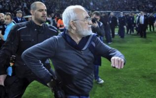 Greek football club owner punished for invading pitch with a gun