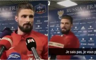 Olivier Giroud threatened to storm out of interview after media's interest in teammate
