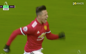 Manchester United fans are loving Alexis Sánchez's celebration after his goal against Swansea