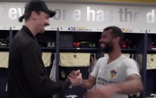 WATCH: Zlatan Ibrahimovic tells Ashley Cole he's kept his word as he arrives at LA Galaxy