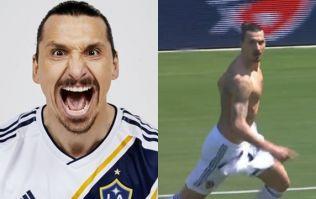 Zlatan Ibrahimovic scores 40-yard volley on LA Galaxy debut