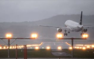 WATCH: Storm Eleanor results in very shaky landing for this plane caught in high winds