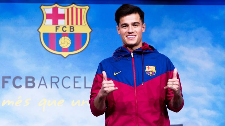 371ead584ce Philippe Coutinho will reportedly wear the number seven shirt for Barcelona