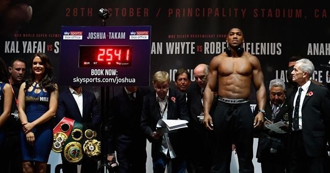 Anthony Joshua's trainer eager for 'AJ' to buck weight trend in March