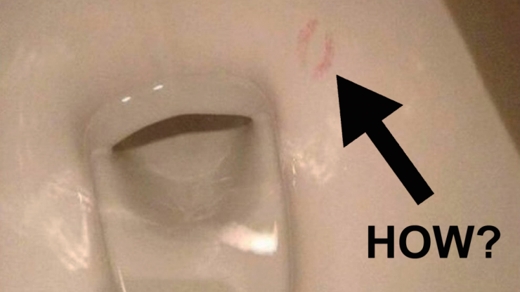 Five important questions about the toilet with lipstick marks inside it